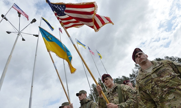 """U.S. paratroopers arriving for """"joint operations"""" with Ukraine National Guard units"""