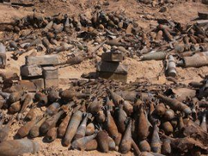 Unexploded bombs in Laos.