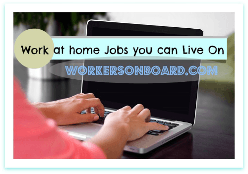 Work at home Jobs You can Live On