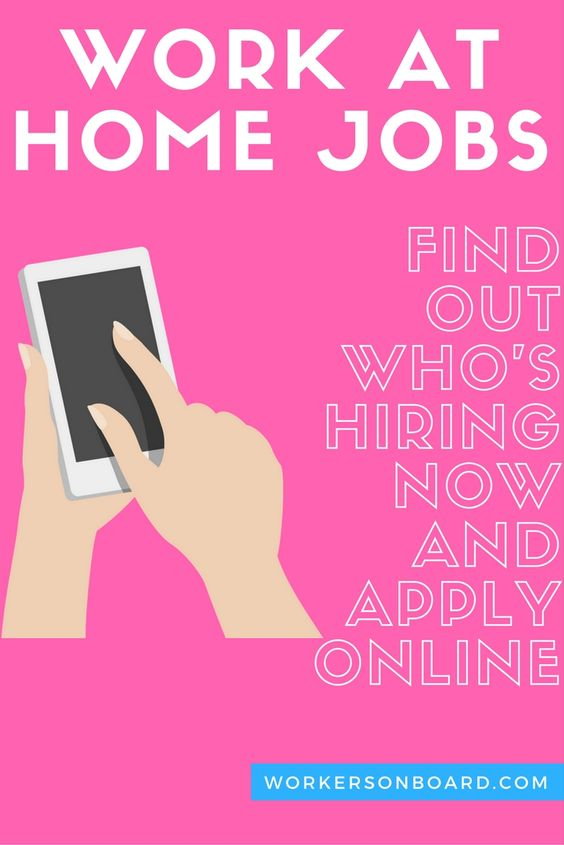 work at home jobs posted today