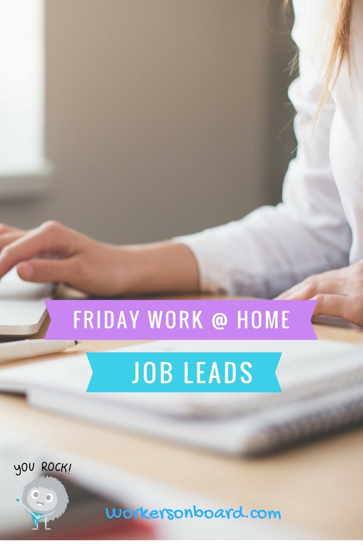 friday work at home jobs  u0026 freebies