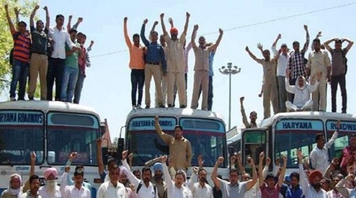 haryana roadways strike