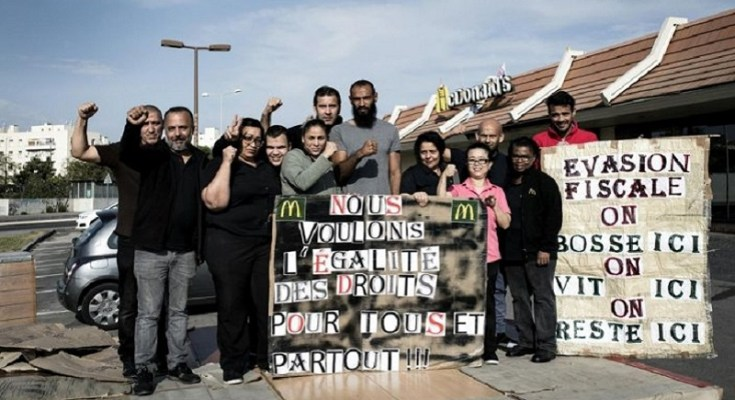 Mcdonalds france workers took over