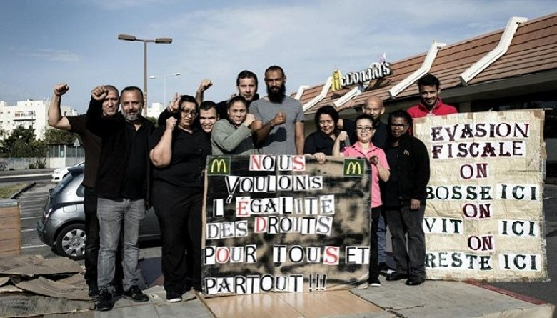 Photo of फ़्रांस में मज़दूरों ने खाना बांटने के लिए मैकडोनल्ड रेस्टोरेंट को अपने कब्ज़े में लिया