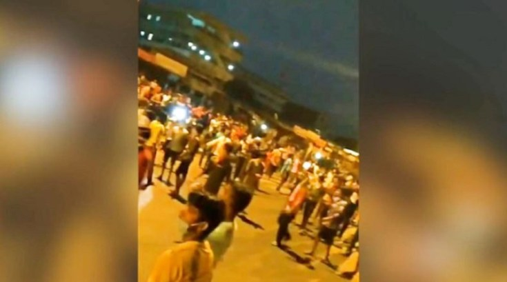 migrant workers protest in surat