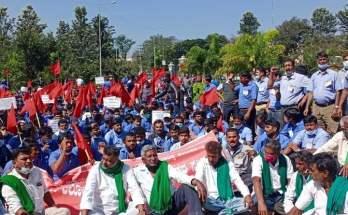 Toyota Kirloskar Motor employee karnataka protest