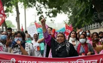 asha workers protest delhi