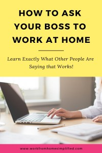 The Secret to Asking Your Boss to Work at Home