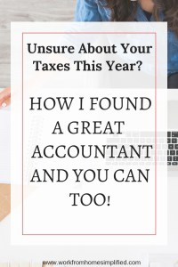 How to Find and Accountant when you Work at Home