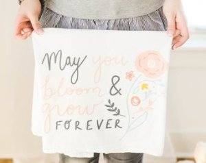 shopdoeadear - May You Bloom Flower Sack Towel