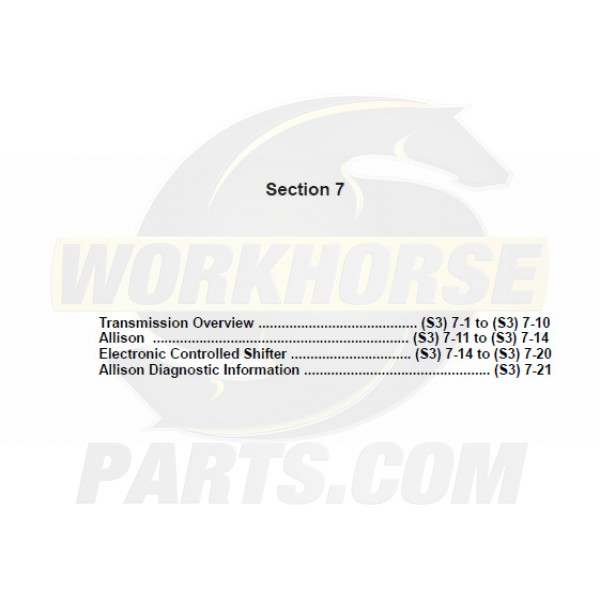 2004-2005 Workhorse Transmission Service Manual Download