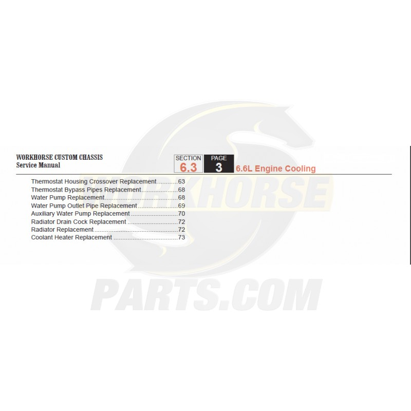 2005-2007 Workhorse LF72 Engine Cooling Service Manual