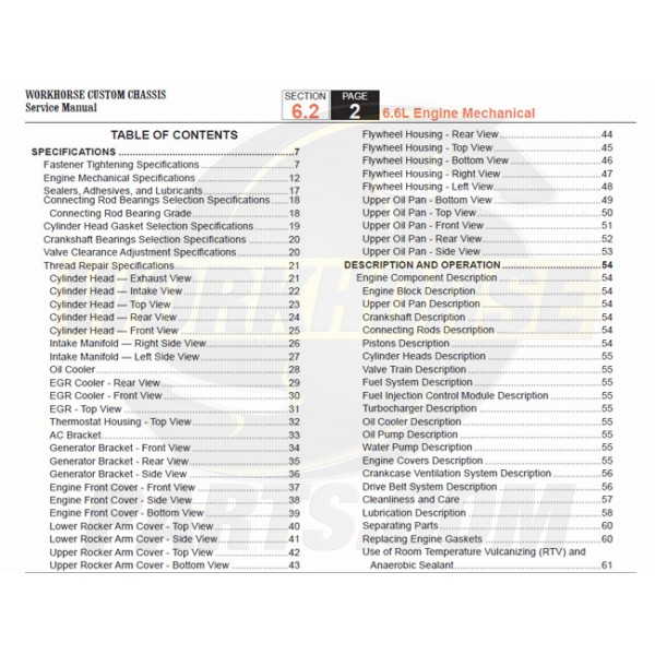 2005-2007 Workhorse LF72 Engine Mechanical Service Manual