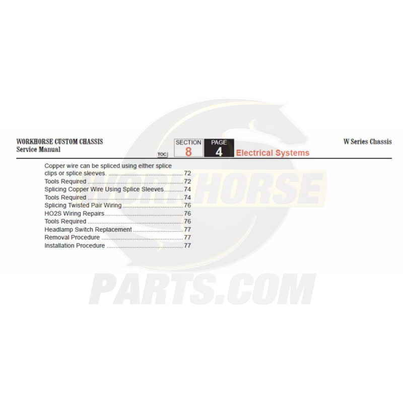 2006 Workhorse W-Series Electrical Systems Service Manual