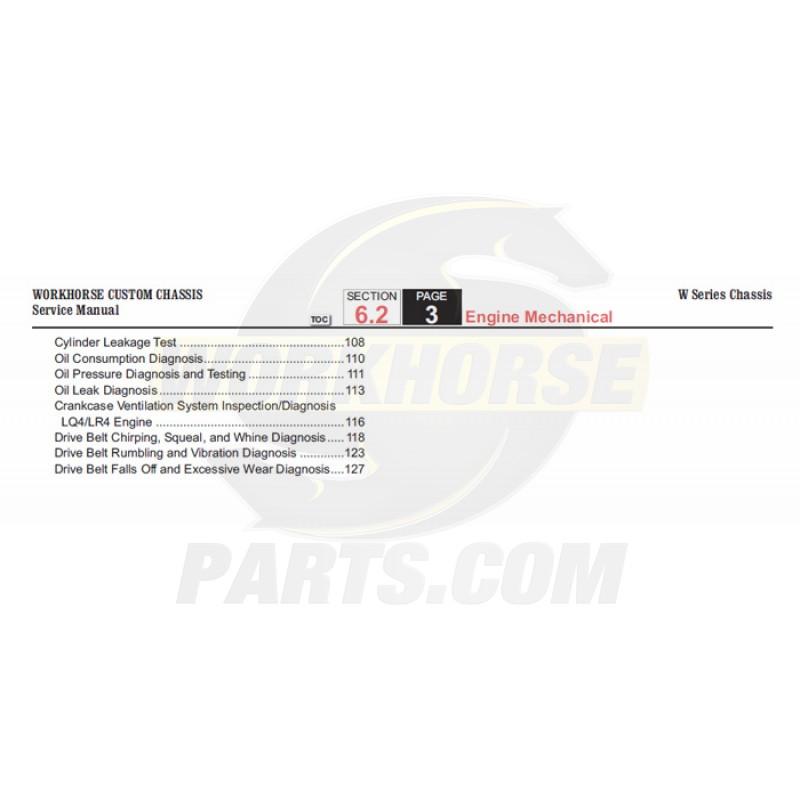 2006 Workhorse W-Series Engine Mechanical Service Manual