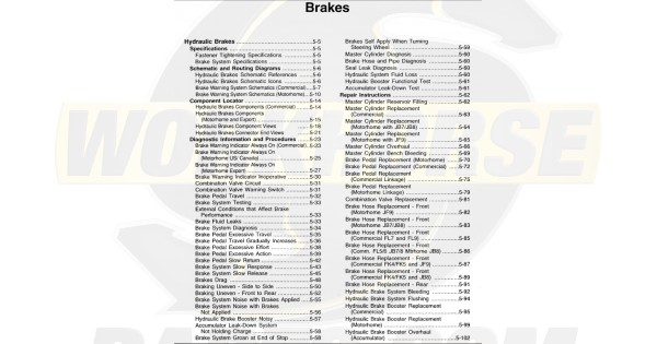 1999-2003 Workhorse Brakes Service Manual Download