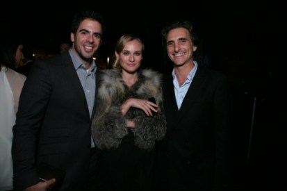 Eli Roth, Diane Kruger and Lawrence Bender