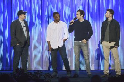 ALAN HORN (CHAIRMAN, WALT DISNEY STUDIOS), ANTHONY MACKIE, SEBASTIAN STAN, CHRIS EVANS