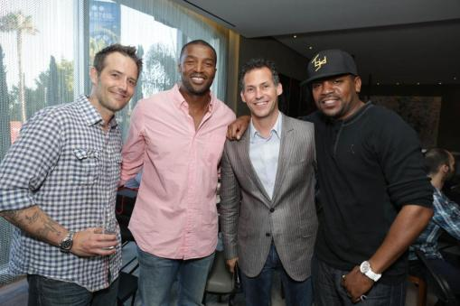 Roger Cross, Michael Vartan, Gavin B. Keilly and Mekhi Phifer at the GBK Pre-ESPY Award Lounge 2013