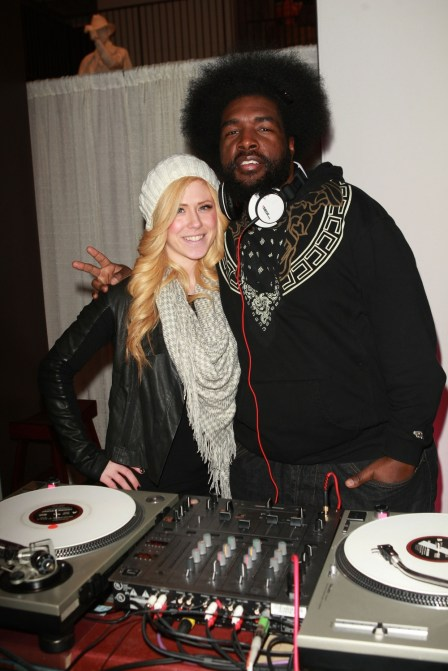 Kristen Elezaj and QuestLove burning the tables.