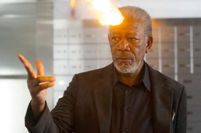 Morgan Freeman's Head Is On Fire in 'Now You See Me' (2013)