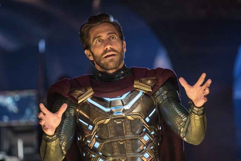 Jake Gyllenhaal is Mysterio in Columbia Pictures' SPIDER-MAN: FAR FROM HOME.