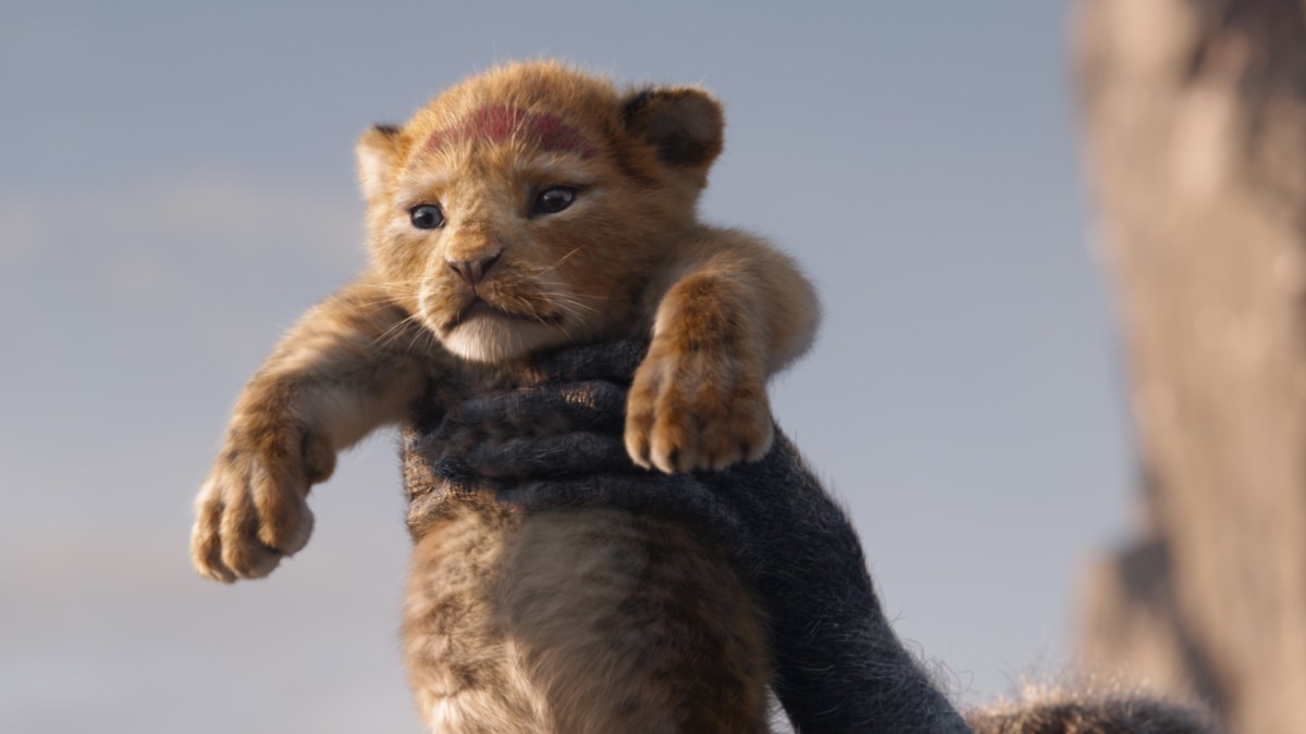 Still from The Lion King (2019) - Simba at Pride Rock
