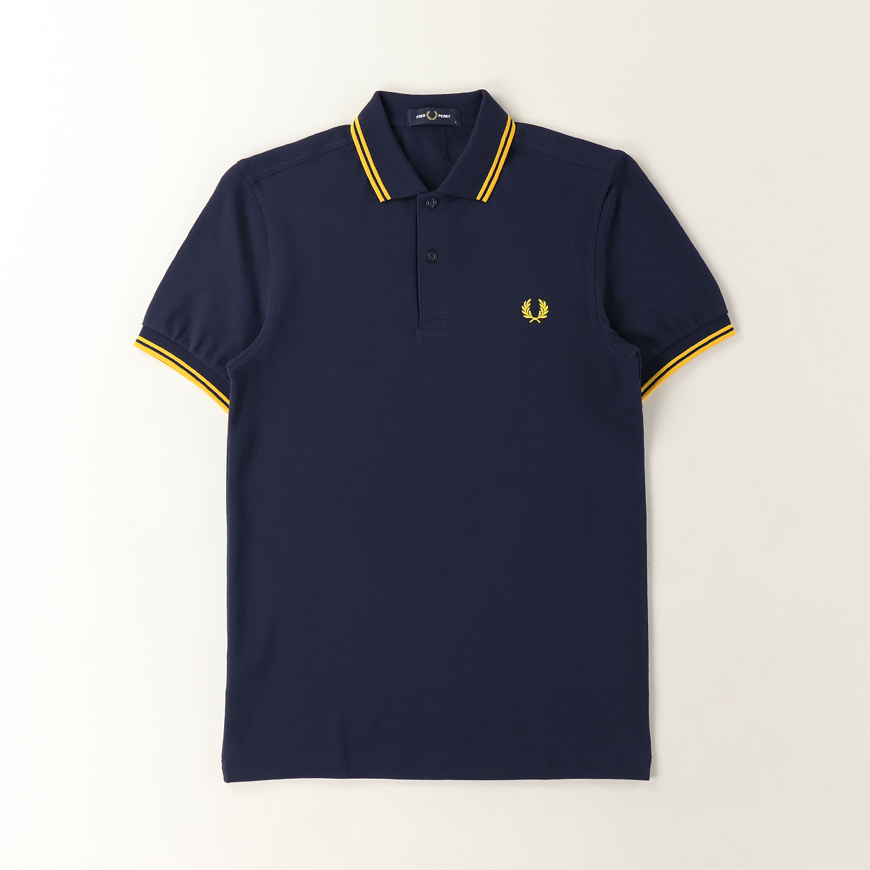 Fred Perry M3600 Twin Tipped Short Sleeve Polo Shirt Carbon Blue £47.08