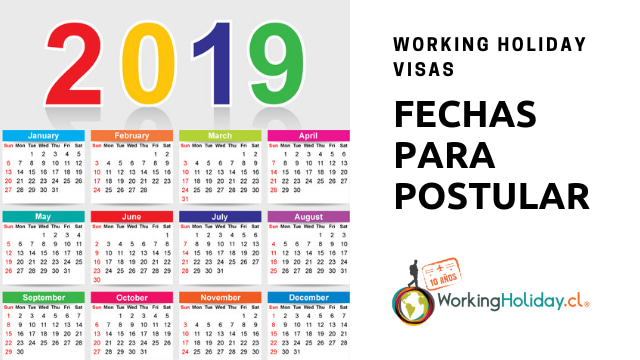fechas postulación working holiday