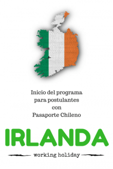 working holiday rep Irlanda visa Chile