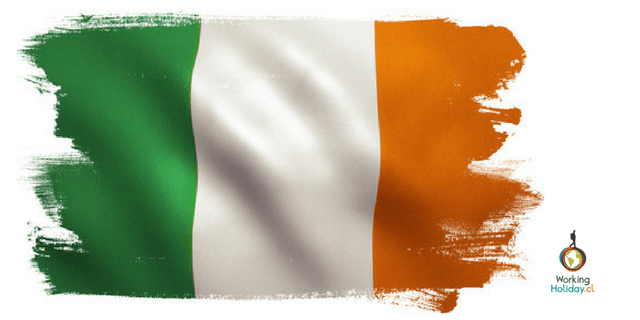 Irlanda segundo ciclo working holiday bandega flag