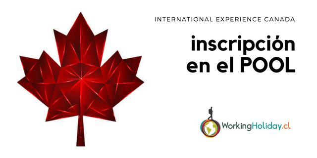 2018 Pool Inscripcion International Experience Canada