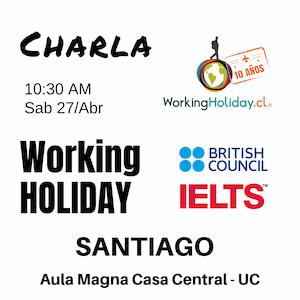 charla working holiday santiago 2019