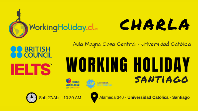 charla working holiday Santiago