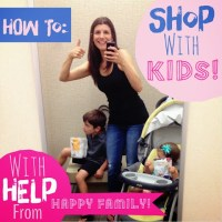 How to shop *with* kids {& a Happy Family Healthy Snack Giveaway}