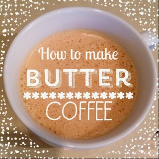 butter coffee, fat burning