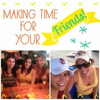 Making time for your friends