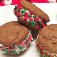 Holiday Treats: Mini Ice Cream Cookie Sandwiches