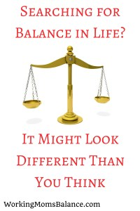 Searching for Balance in Life-