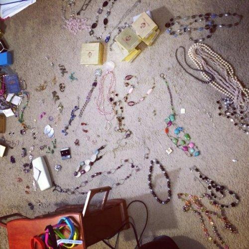 jewelry mess