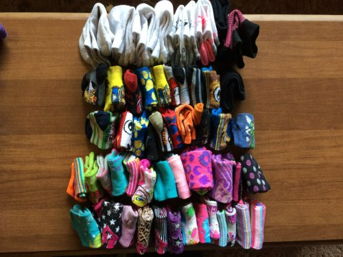 folded socks using the konmari method