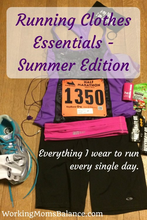 Running is simple. You don't need fancy equipment or a gym membership. You just need to head out the door and put one foot in front of the other. However, the running clothes you choose to wear on your run can make a huge difference in how enjoyable your run is as well as in helping you avoid injury. I run every single day, so I have a lot of running clothes. Here is my list of what I wear on every run and the criteria I use when buying new clothes (hint, the more budget friendly, the better).