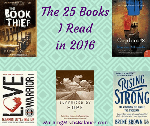 I read 25 books in 2016. Here is the list of books I read as well as my comments and ratings.