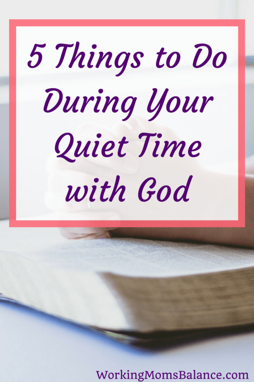 You want to establish a daily quiet time with God, but you're not quite sure what to do or where to start. This post can help you begin to put different elements in place to have an enjoyable and effective time with God. #faith #quiettime #devotions #biblestudy