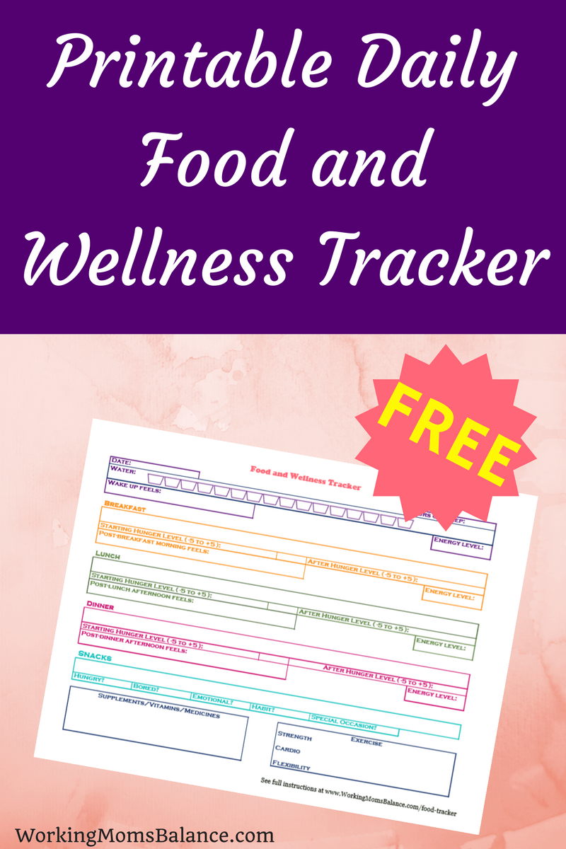 This free printable food and wellness tracker will allow you to track all of your healthy (and not so healthy) daily choices to find out what works and what doesn't as you work toward better health. Food Journal. Food diary.