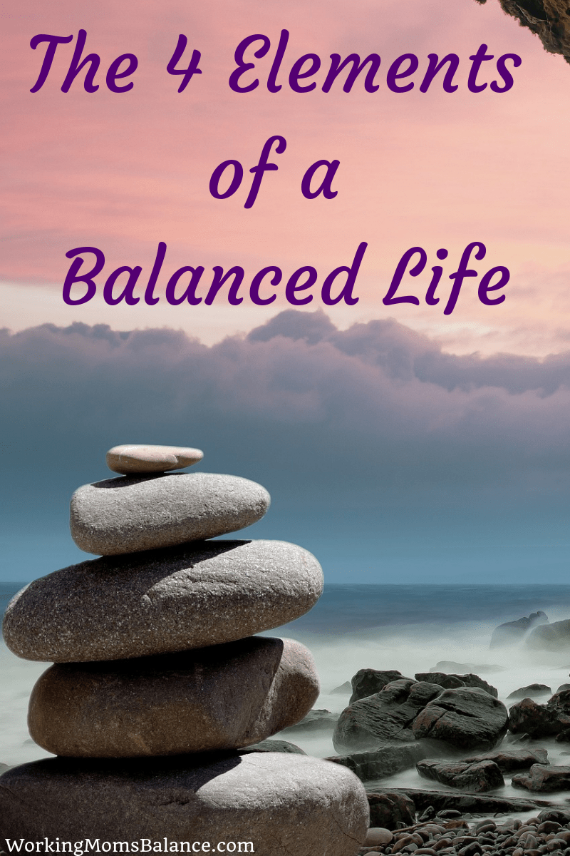 The elements of a balanced life include health, mindset, organization, and impact. When we intentionally pursue these elements our lives can flourish. #worklifebalance #lifebalance #flourishing #workingmom #work