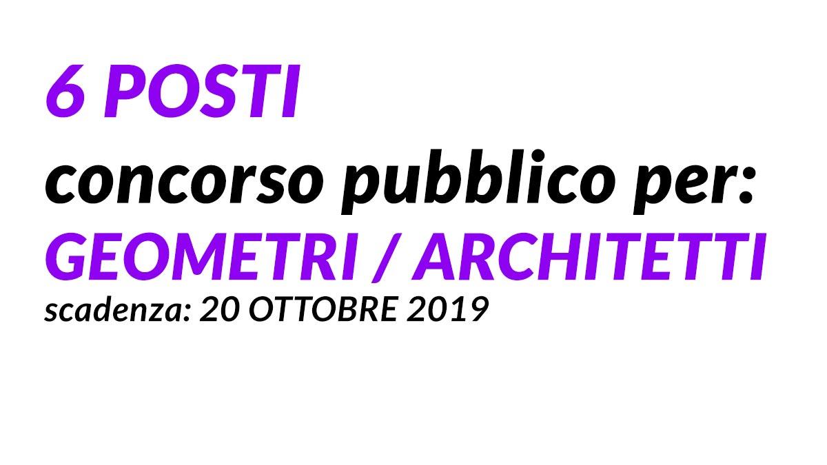 6 Istruttori Tecnici Geometri Architetti Concorso Pubblico