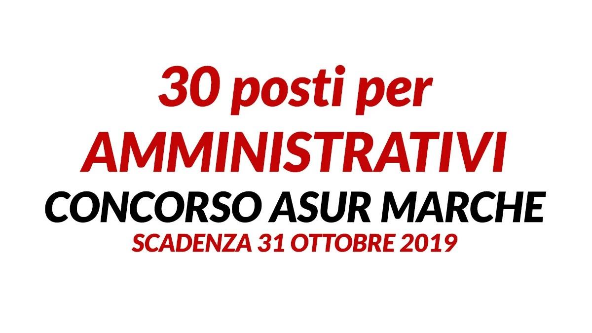 30 Posti Per Amministrativi Concorso Ottobre 2019 Asur