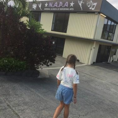 Little actress starting her next adventure