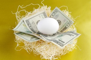 Nest-egg and money
